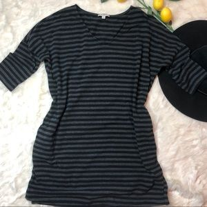 Striped v-neck tunic